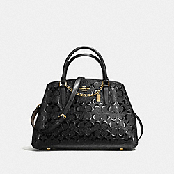 COACH F55451 Small Margot Carryall LIGHT GOLD/BLACK