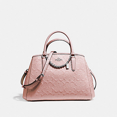 COACH f55451 SMALL MARGOT CARRYALL SILVER/BLUSH 2