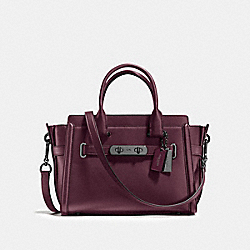 COACH SWAGGER 27 - f55496 - OXBLOOD/DARK GUNMETAL