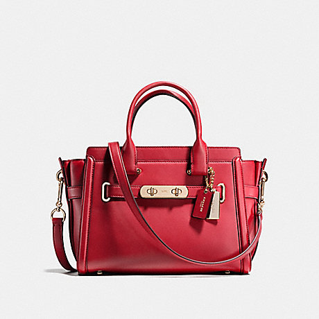 COACH f55496 COACH SWAGGER 27 RED CURRANT/LIGHT GOLD