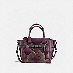 COACH SWAGGER 21 WITH CANYON QUILT - f55511 - oxblood/bronze/dark gunmetal