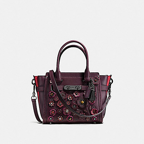 COACH f55523 COACH SWAGGER 21 WITH TEA ROSE OXBLOOD/DARK GUNMETAL