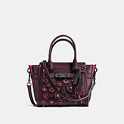 COACH SWAGGER 21 WITH TEA ROSE - f55523 - OXBLOOD/DARK GUNMETAL