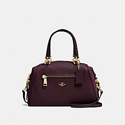 PRIMROSE SATCHEL - f55532 - OXBLOOD/LIGHT GOLD