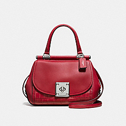 COACH F55536 - DRIFTER TOP HANDLE RED CURRANT/SILVER
