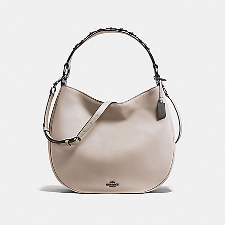 COACH f55543 MAE HOBO WITH TEA ROSE grey birch/dark gunmetal