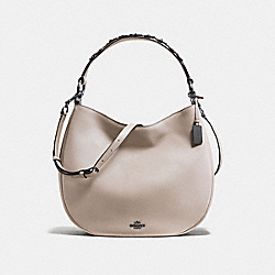 MAE HOBO WITH TEA ROSE - f55543 - grey birch/dark gunmetal