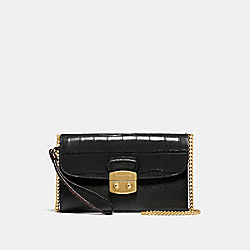COACH F55617 Chain Crossbody BLACK/IMITATION GOLD