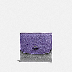 COACH F55645 - SMALL WALLET IN COLORBLOCK MULTI/BLACK ANTIQUE NICKEL