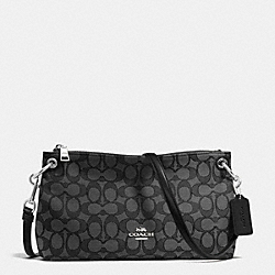 COACH F55663 Charley Crossbody In Signature SILVER/BLACK SMOKE/BLACK