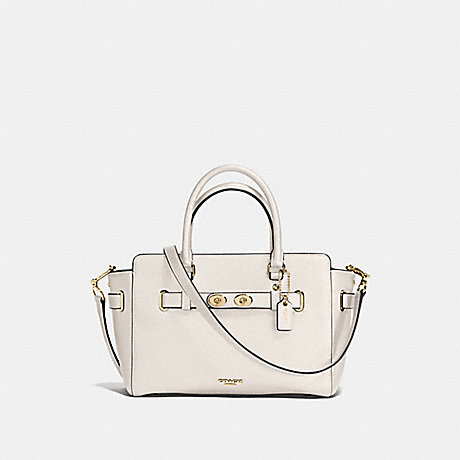 COACH f55665 BLAKE CARRYALL 25 IN BUBBLE LEATHER IMITATION GOLD/CHALK