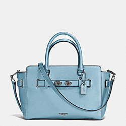 COACH F55665 - BLAKE CARRYALL 25 IN BUBBLE LEATHER ANTIQUE SILVER/CORNFLOWER