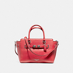 COACH F55665 - BLAKE CARRYALL 25 SILVER/TRUE RED