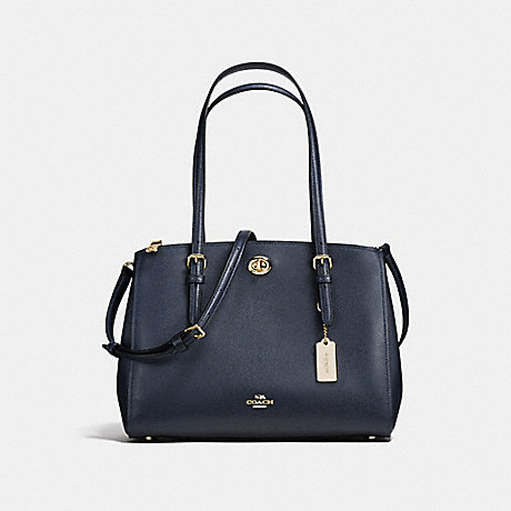 COACH f55679 TURNLOCK CARRYALL 29 NAVY/LIGHT GOLD