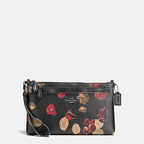 74d8898fc COACH f55683 WRISTLET WITH POP UP POUCH IN HALFTONE FLORAL PRINT COATED  CANVAS ANTIQUE NICKEL/