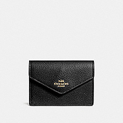 COACH F55749 - ENVELOPE CARD CASE LI/BLACK