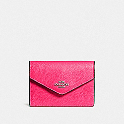COACH F55749 Envelope Card Case SV/AMARANTH