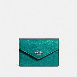 COACH F55749 Envelope Card Case SV/TEAL
