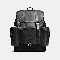 COACH F55750 - GOTHAM BACKPACK BLACK/OLD BRASS