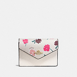 COACH F55765 Envelope Card Case With Daisy Field Print LI/DAISY FIELD CHALK