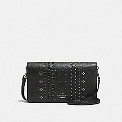 COACH F55811 - HAYDEN FOLDOVER CROSSBODY CLUTCH WITH BANDANA RIVETS DK/BLACK