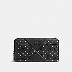 COACH F55821 Accordion Wallet With Bandana Patchwork BLACK