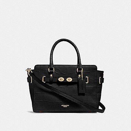 COACH F55876 BLAKE CARRYALL 25 BLACK/GOLD
