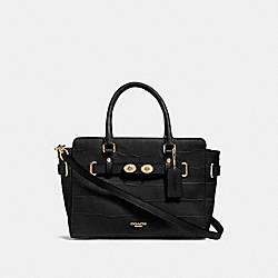 COACH F55876 - BLAKE CARRYALL 25 BLACK/GOLD