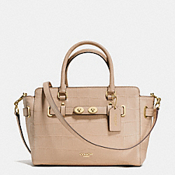 COACH F55876 Blake Carryall 25 In Croc Embossed Leather IMITATION GOLD/BEECHWOOD