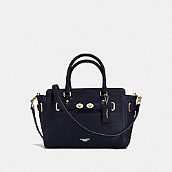 COACH F55876 - BLAKE CARRYALL 25 IN CROC EMBOSSED LEATHER IMITATION GOLD/MIDNIGHT