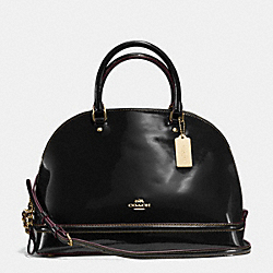 SIERRA SATCHEL IN PATENT LEATHER - f55922 - IMITATION GOLD/BLACK