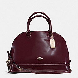 COACH F55922 Sierra Satchel In Patent Leather IMITATION GOLD/OXBLOOD 1
