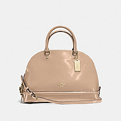 SIERRA SATCHEL IN PATENT LEATHER - f55922 - IMITATION GOLD/PLATINUM