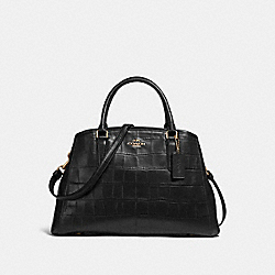 COACH F55927 Small Margot Carryall BLACK/LIGHT GOLD