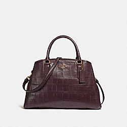 COACH F55927 Small Margot Carryall LIGHT GOLD/OXBLOOD 1