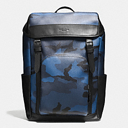 HENRY BACKPACK IN INDIGO CAMO - f55960 - LIGHT LILAC