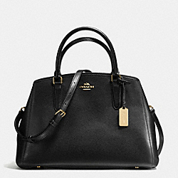 COACH F55976 - SMALL MARGOT CARRYALL IN CROSSGRAIN LEATHER IMITATION GOLD/BLACK