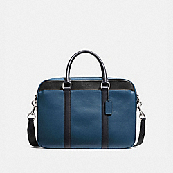 COACH F56018 Perry Slim Brief In Colorblock NICKEL/DENIM/MIDNIGHT/BLACK