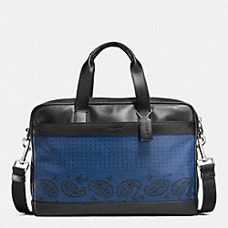 HAMILTON BAG IN PRINTED LEATHER - f56021 - INDIGO/BLACK BANDANA