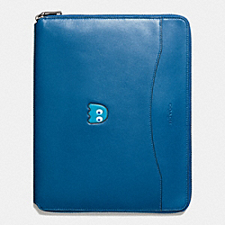 COACH PAC MAN TECH CASE IN LEATHER - DENIM - F56058