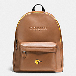 COACH F56106 Pac Man Charles Backpack In Calf Leather SADDLE