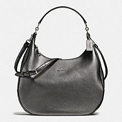 HARLEY HOBO IN METALLIC PEBBLE LEATHER - f56130 - SILVER/GUNMETAL