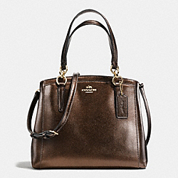 COACH F56134 Minetta Crossbody In Metallic Crossgrain Leather IMITATION GOLD/BRONZE