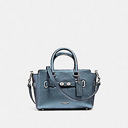 COACH F56138 - MINI BLAKE CARRYALL METALLIC POOL/SILVER
