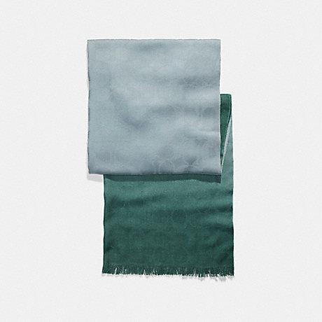 COACH f56159 OMBRE SIGNATURE WRAP SEA GREEN