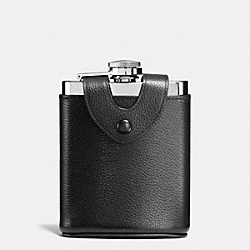 COACH F56169 - BOXED FLASK IN LEATHER BLACK