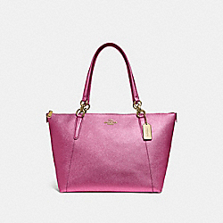 COACH F56197 - AVA TOTE METALLIC ANTIQUE BLUSH/LIGHT GOLD
