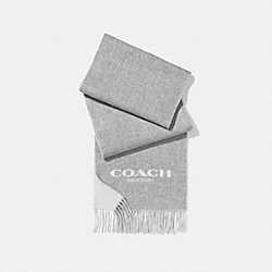 COACH F56209 - DOUBLE FACED MUFFLER LIGHT GREY/CHALK