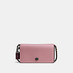COACH F56263 Dinky In Colorblock DUSTY ROSE/BLACK COPPER