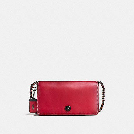 COACH F56263 DINKY IN COLORBLOCK 1941-RED/CHALK/BLACK-COPPER
